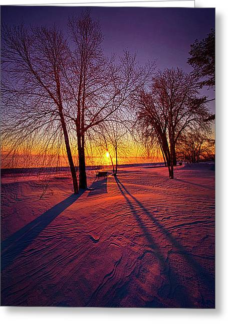 One Day Closer Greeting Card by Phil Koch