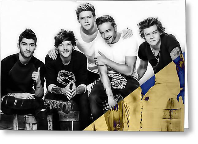 One Direction Collection Greeting Card by Marvin Blaine