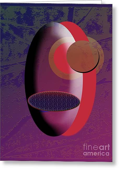 One Eye Closed Greeting Card by EGiclee Digital Prints