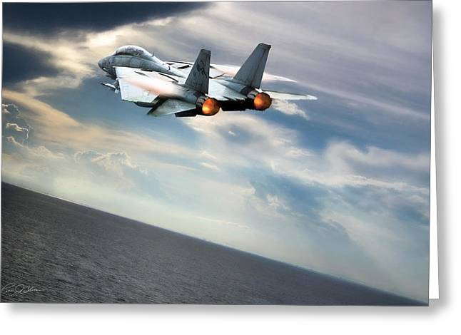 One Fast Cat Vf-31 Greeting Card by Peter Chilelli