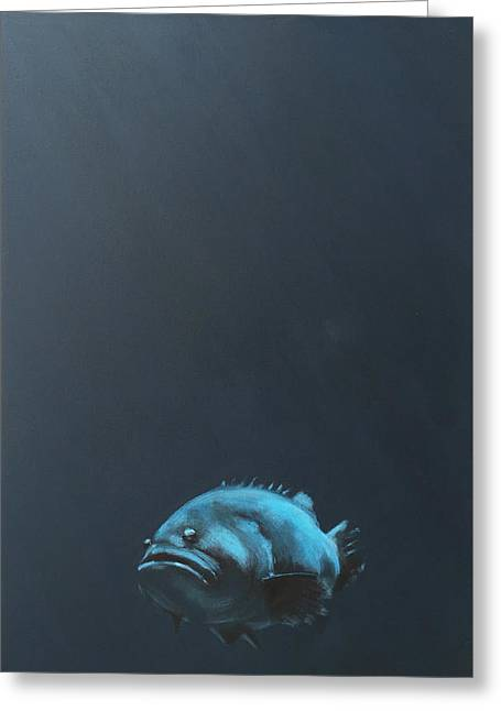 One Fish Greeting Card by Jeffrey Bess