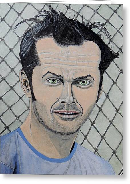 One Flew Over The Cuckoo's Nest. Greeting Card by Ken Zabel