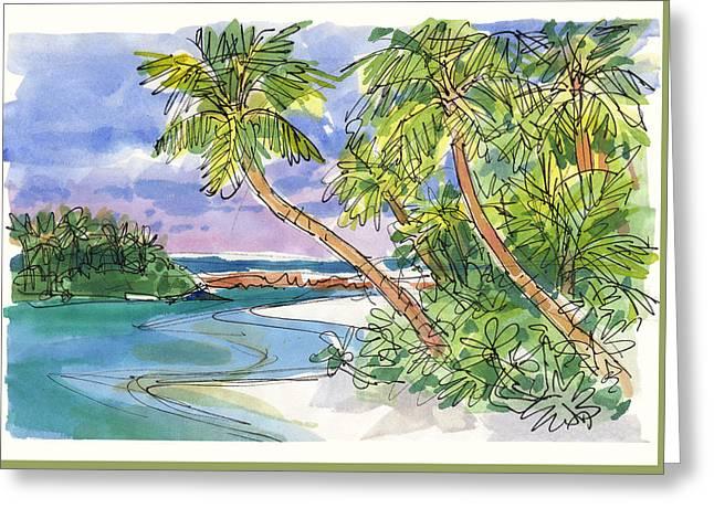 One-foot-island, Aitutaki Greeting Card