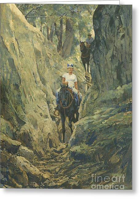 One Horse Gap Greeting Card by Don  Langeneckert