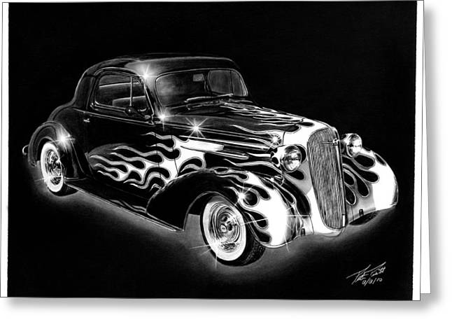 One Hot 1936 Chevrolet Coupe Greeting Card by Peter Piatt