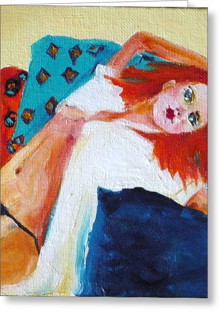 One Lazy Afternoon Greeting Card by Irit Bourla