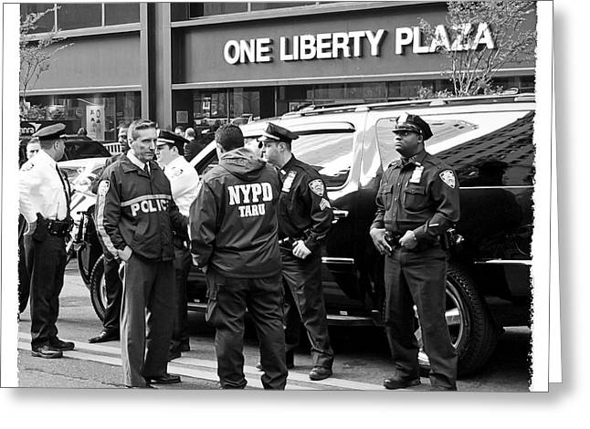 One Liberty Plaza Greeting Card by Richard Laupus