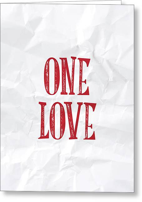 One Love Greeting Card by Samuel Whitton