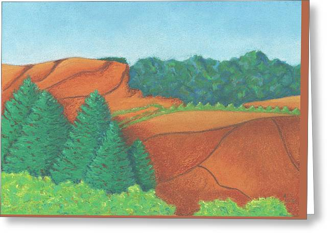 One Mesa Greeting Card by Anne Katzeff