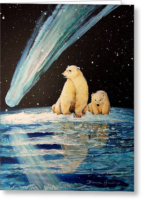 One Mile From The Top Of Alaska Greeting Card by Dianne Roberson