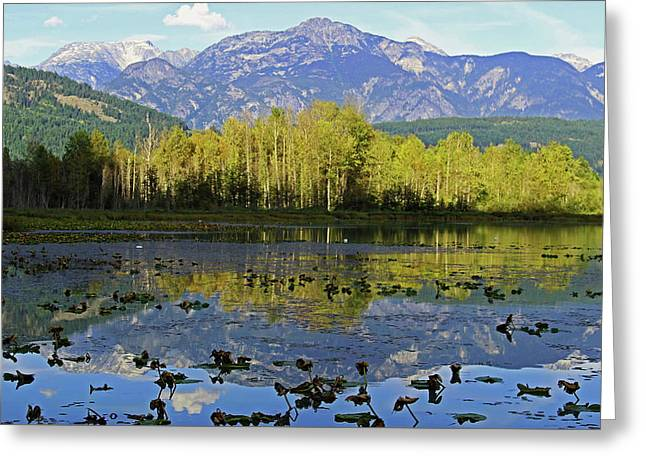One Mile Lake 1 Greeting Card by Walter Fahmy