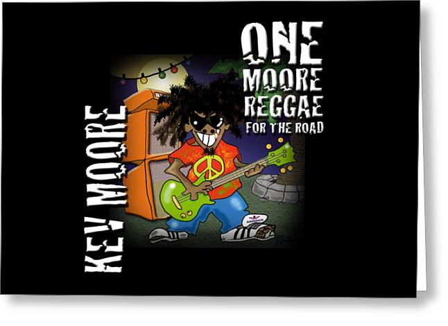 One Moore Reggae Greeting Card