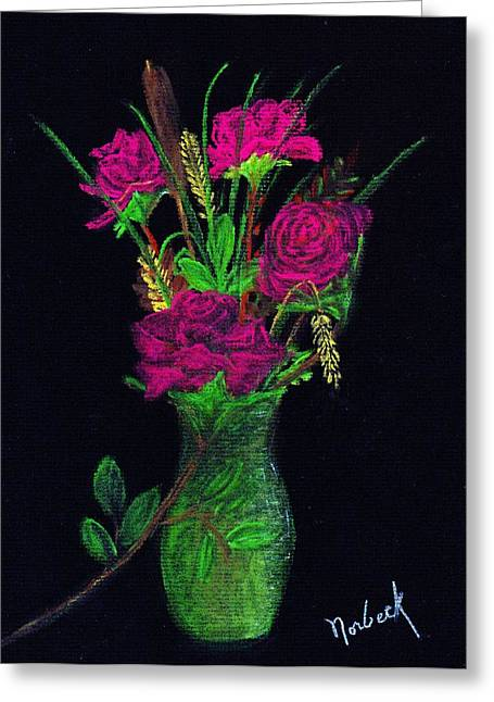 One More Rose Greeting Card by Thomas J Norbeck