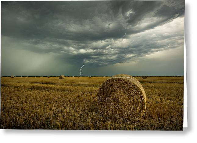 Greeting Card featuring the photograph One More Time A Round by Aaron J Groen