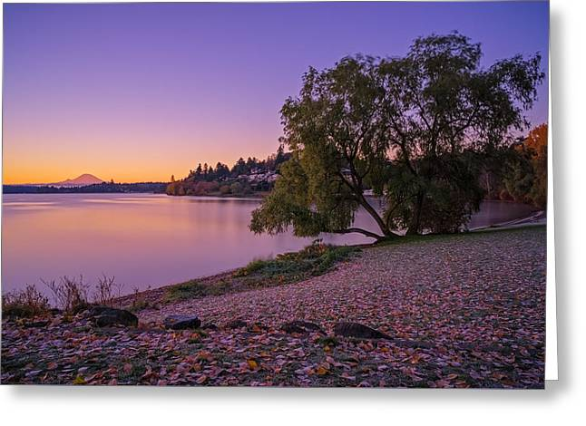 One Morning At The Lake Greeting Card by Ken Stanback