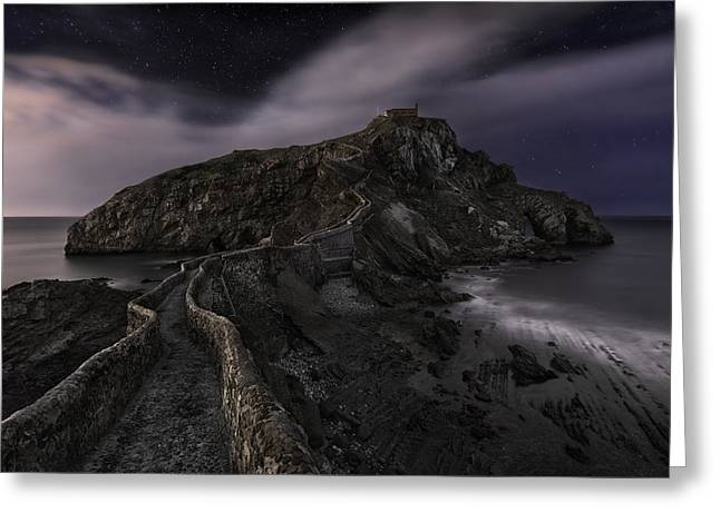One Night In Gaztelugatxe Greeting Card by Fran Osuna
