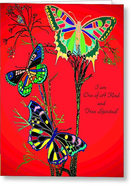 One Of A Kind Greeting Card by Joyce Dickens