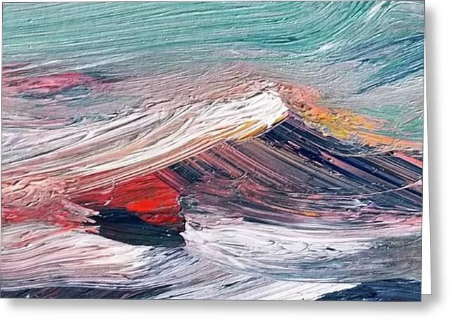 Wave Mountain Greeting Card