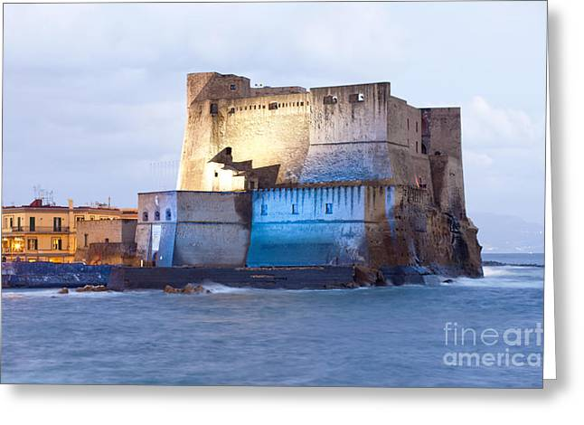 One Of The Castles In Naples Greeting Card by Andre Goncalves