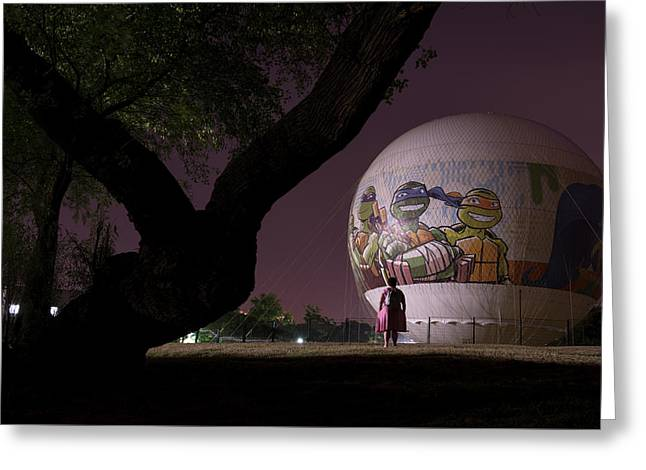 Greeting Card featuring the photograph One Peculiar Night... by Dubi Roman