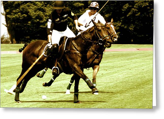 One On One Polo Greeting Card