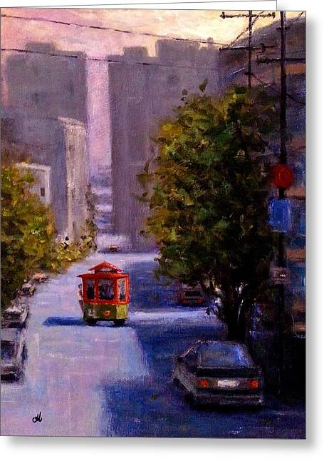 One Quiet Afternoon In San Francisco.. Greeting Card