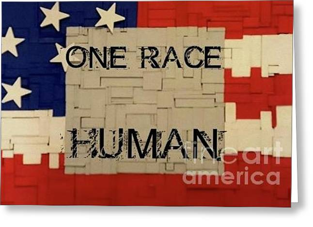 One Race Greeting Card
