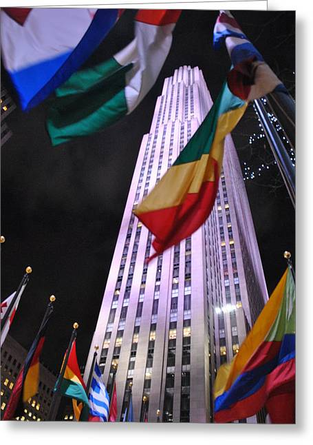One Rockefeller Center Greeting Card by Jacqueline M Lewis