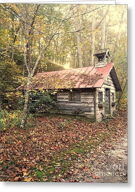 One Room School House Gnawbone Indiana Greeting Card by Scott D Van Osdol