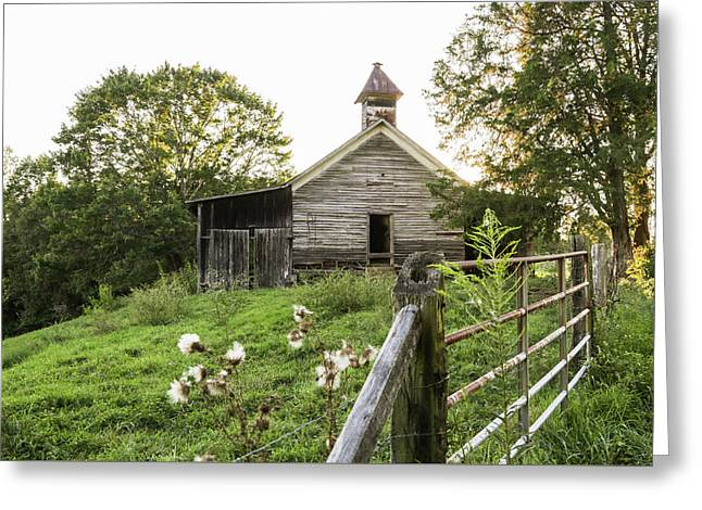 One Room School House Greeting Card by Lisa Lemmons-Powers