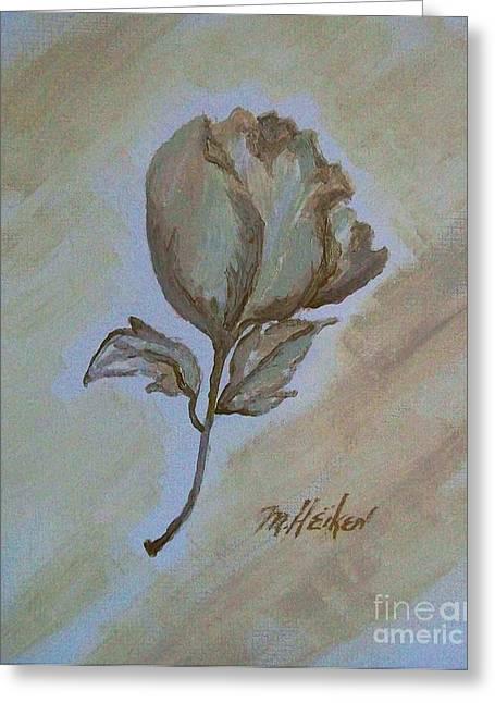 One Rose Greeting Card by Marsha Heiken