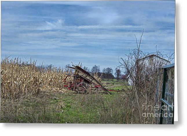 One Row Corn Picker Greeting Card