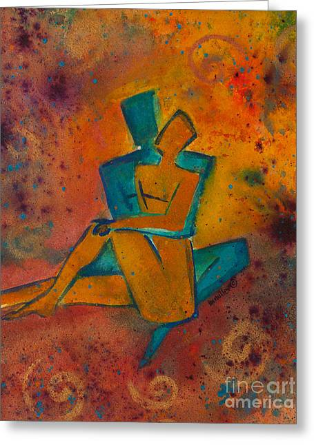 One Soul Divine Love Series No. 1002 Greeting Card