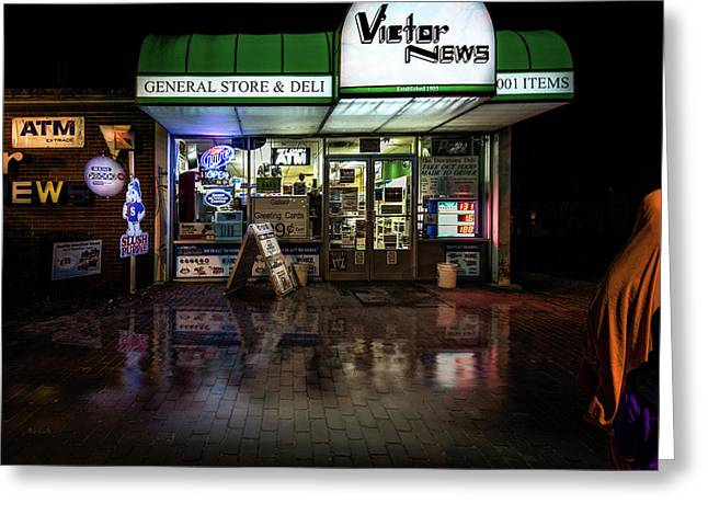 One Stop Shopping Greeting Card by Bob Orsillo