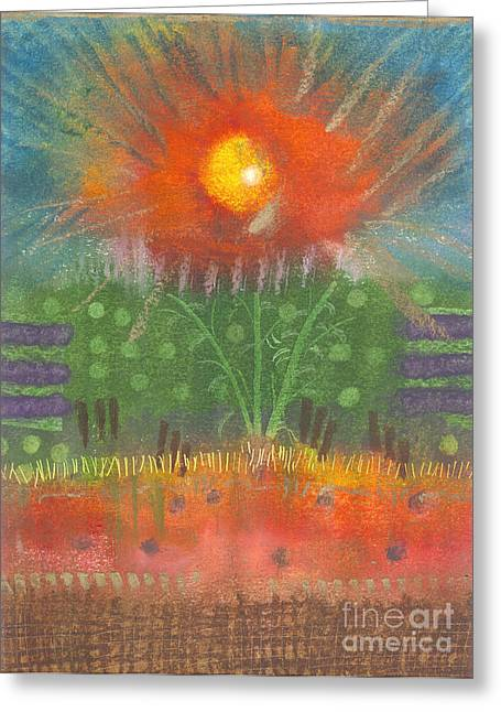 Greeting Card featuring the painting One Sunny Day by Angela L Walker