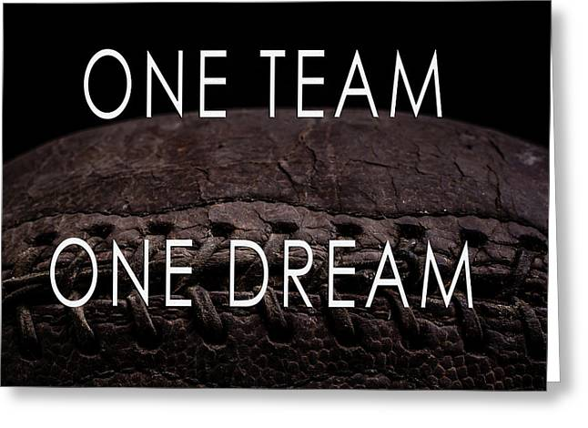 One Team One Dream Football Poster Greeting Card