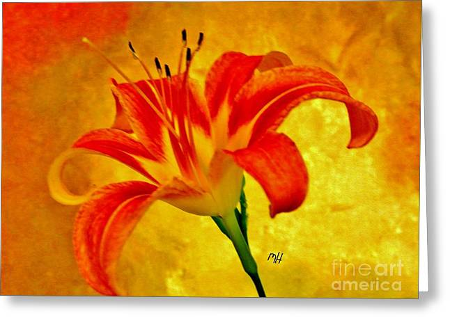 Greeting Card featuring the photograph One Tigerlily by Marsha Heiken