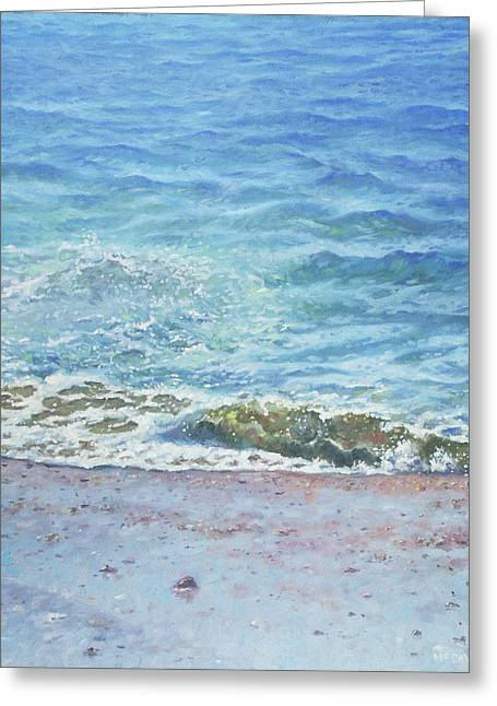 Greeting Card featuring the painting One Wave by Martin Davey