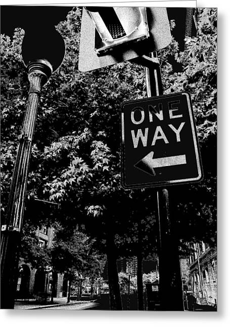 One Way To Go Greeting Card by Gulf Island Photography and Images