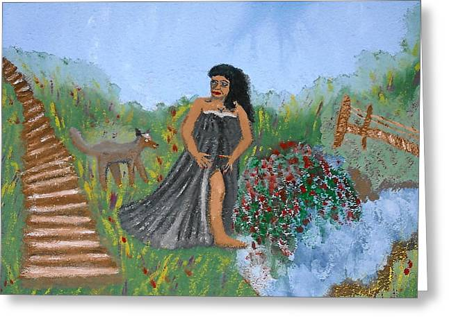 One Woman's Journey Greeting Card by BJ Abrams