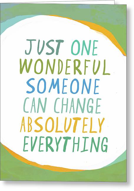 One Wonderful Someone Greeting Card