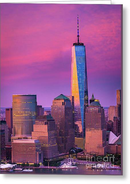 One World Trade Center Sunset Greeting Card