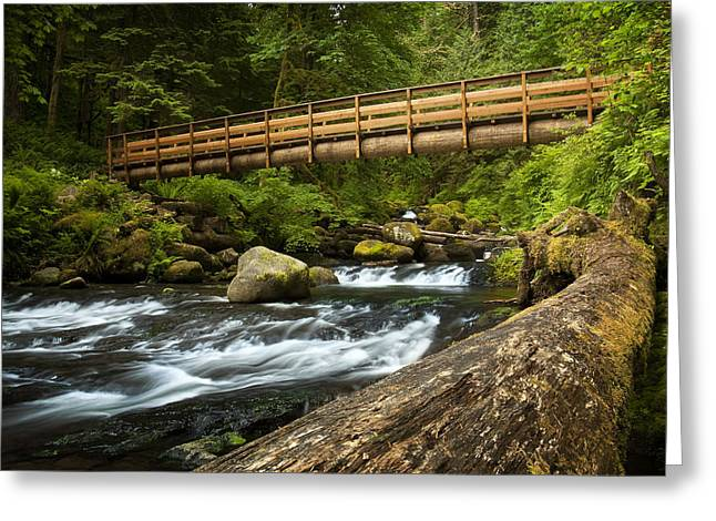 Oneonta Creek Crossing Greeting Card