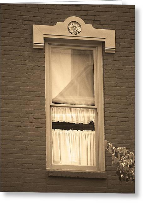 Jonesborough Tennessee - One Window Greeting Card by Frank Romeo