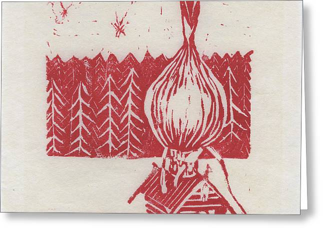 Onion Dome Greeting Card by Alla Parsons