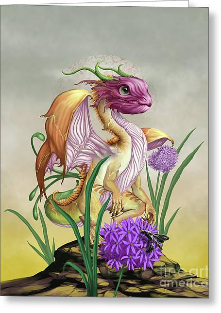 Onion Dragon Greeting Card