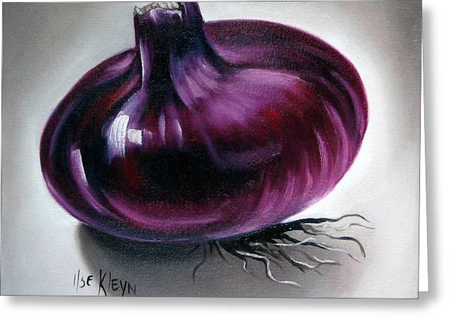 Onion Greeting Card by Ilse Kleyn