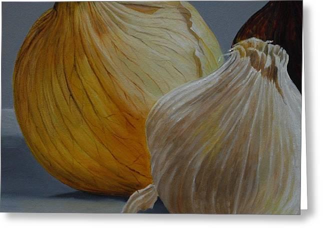 Onions And Garlic Greeting Card