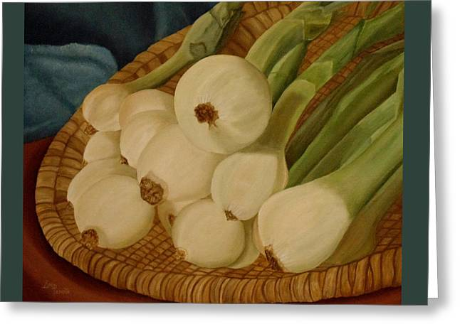 Onions Greeting Card by Angeles M Pomata