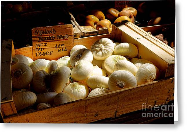 Onions Blancs Frais Greeting Card by Olivier Le Queinec